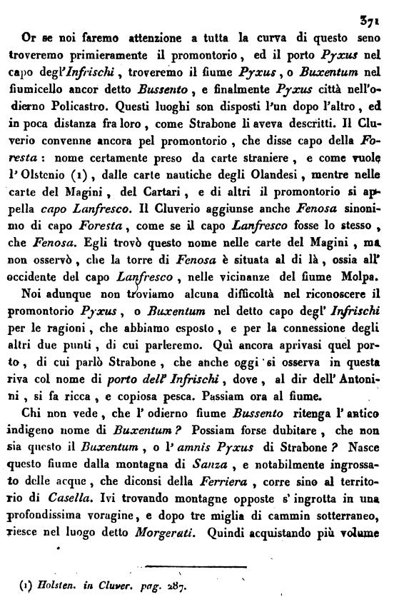 Romanelli, su Pisciotta e Bussento, p. 371
