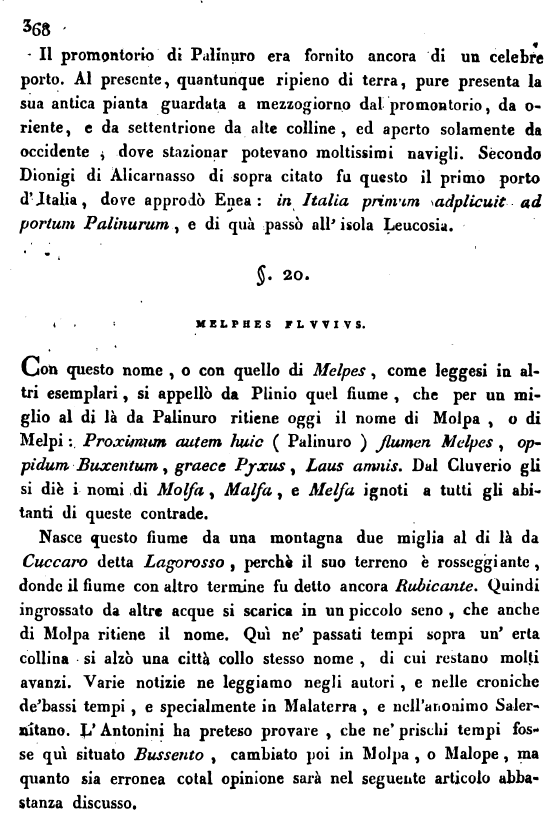Romanelli, su Molpa, p. 368