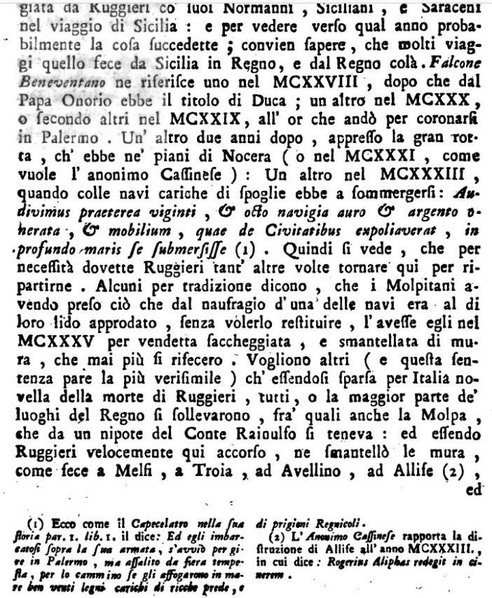 Antonini, Ruggero II distrugge la molpa, p. 374
