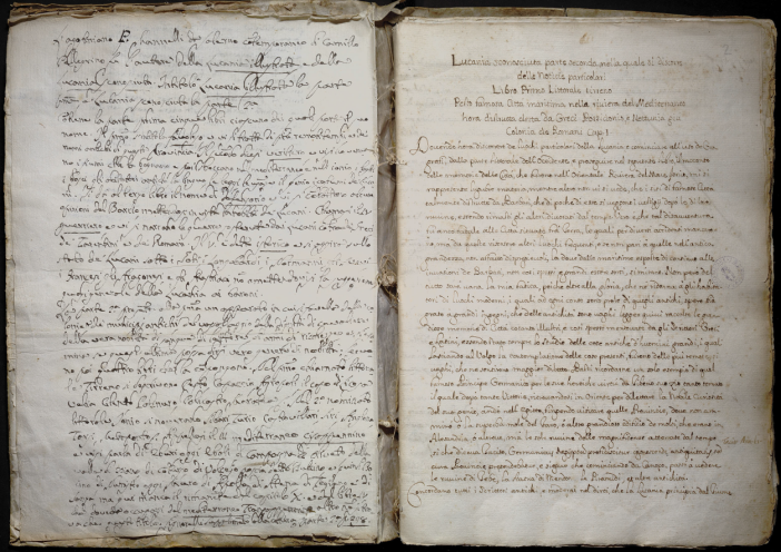 Luca Mannelli, manoscritto