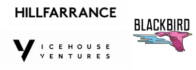 Collection of investor logos including Hillfarrance, Blackbird, and Icehouse ventures