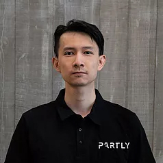 Partly startup co-founder Evan Jia