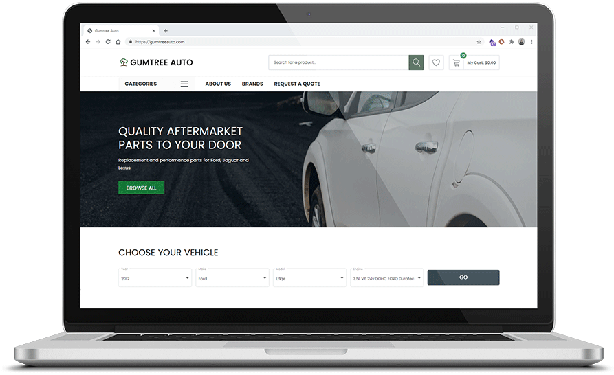 Shopify Auto Parts Website with Year Make Model Lookup with fitment data