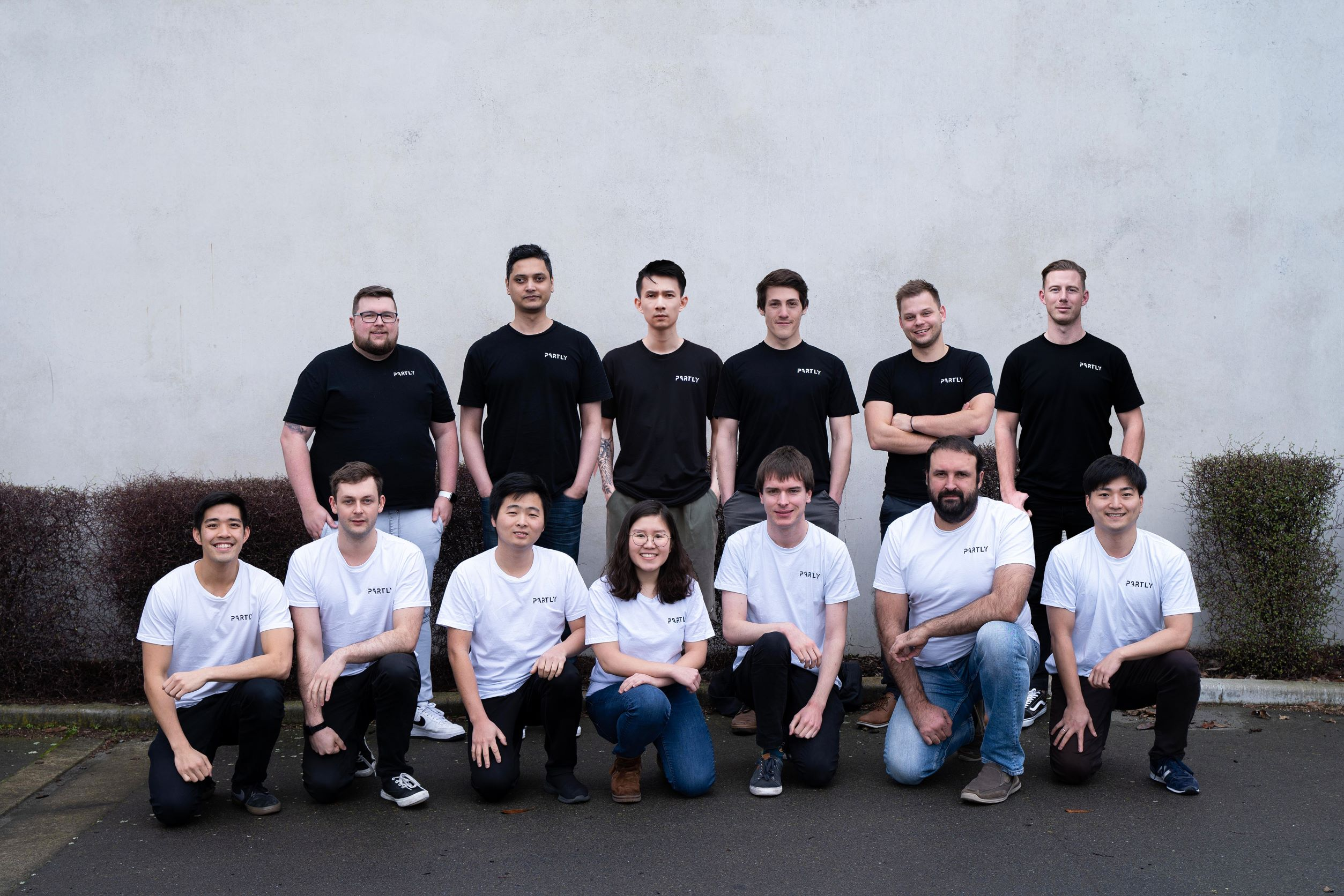 Partly startup team photo July 2022