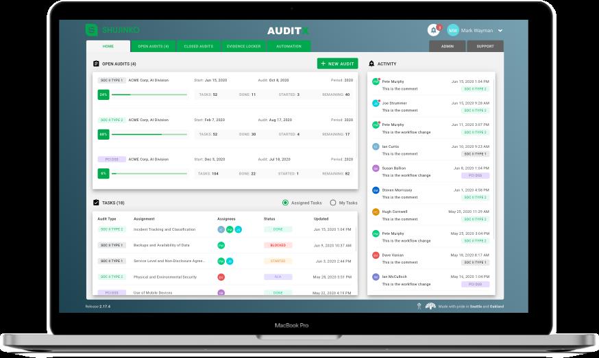 AuditX Screenshot