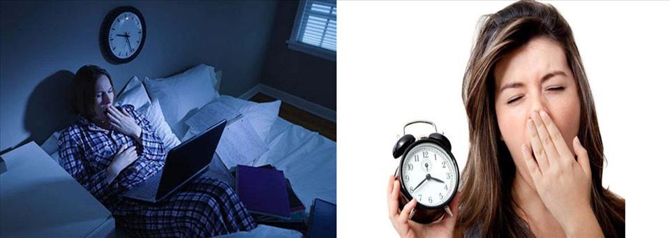 Tình trạng thiếu ngủ kéo dài sẽ gây giảm tuổi thọ. Đồ họa: Hồng Nhật