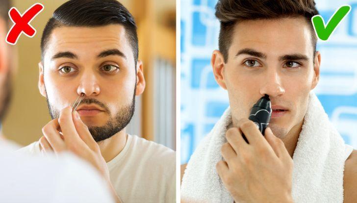 6. Nhổ lông mũi Nhổ lông mũi sẽ loại bỏ hàng rào bảo vệ hệ hô hấp, tăng nguy cơ bị dị ứng và hen suyễn. Hơn nữa, nhổ lông mũi có thể dẫn đến nguy cơ nhiễm trùng da gây đau đớn.