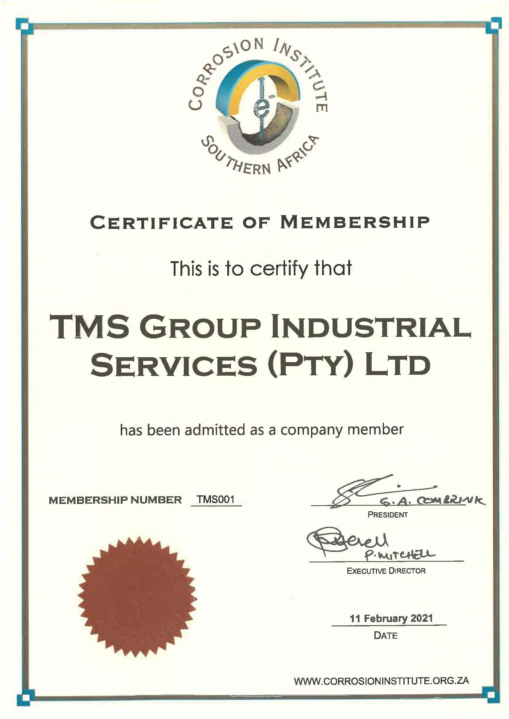 Corrosion Institute Membership