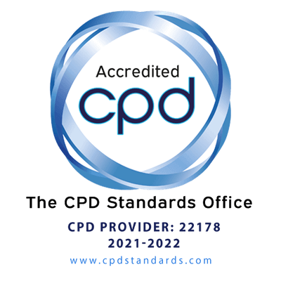 CPD Accredited Badge including service provider information