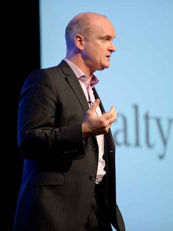 an image of Sean Weafer speaking at the Loyalty Build event