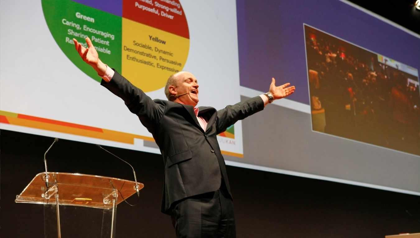 Sean delivering a keynote presentation