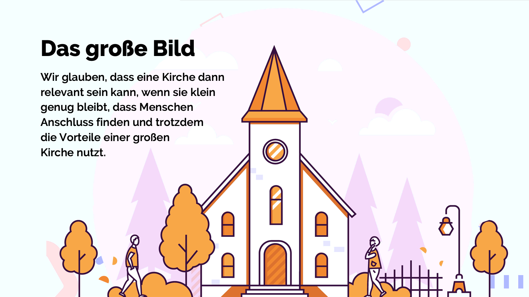Eine Illustration einer Kirche