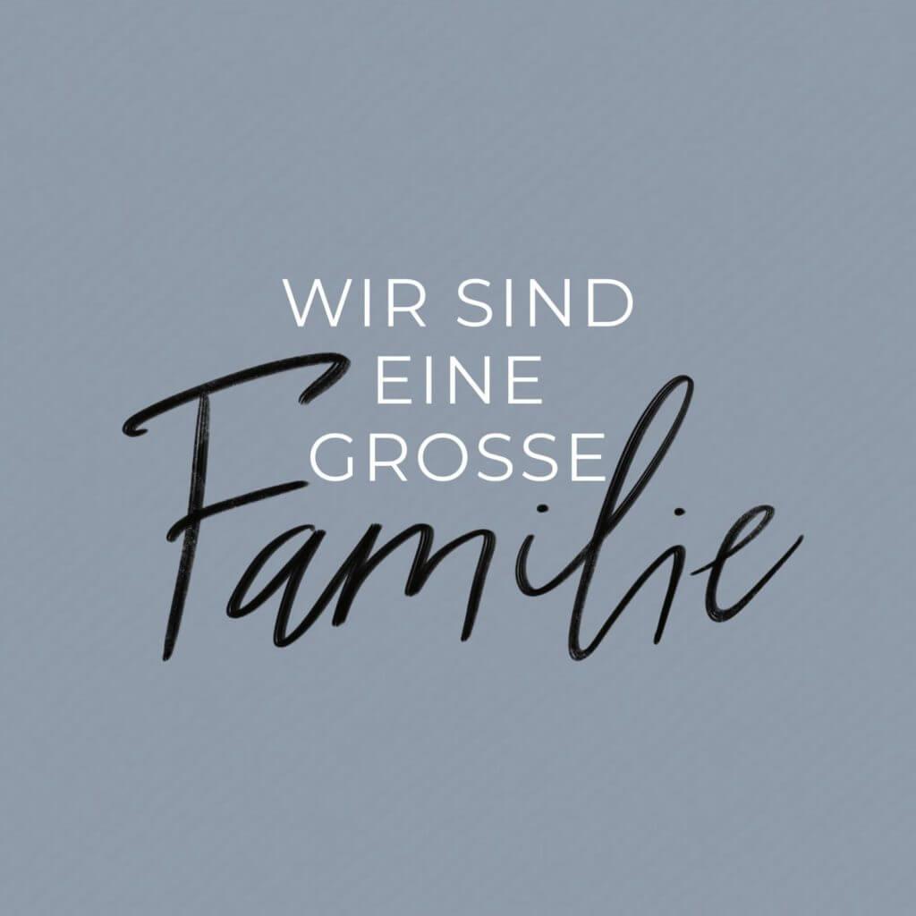 Wir sind eine große Familie | Familienkirche Werte