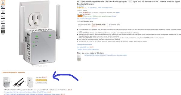 cross sell on Amazon