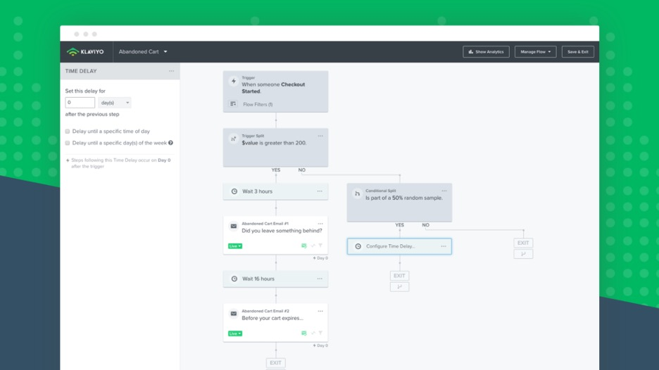 Klaviyo's email marketing workflows is a powerful way to automate your dropshipping business's customer journey