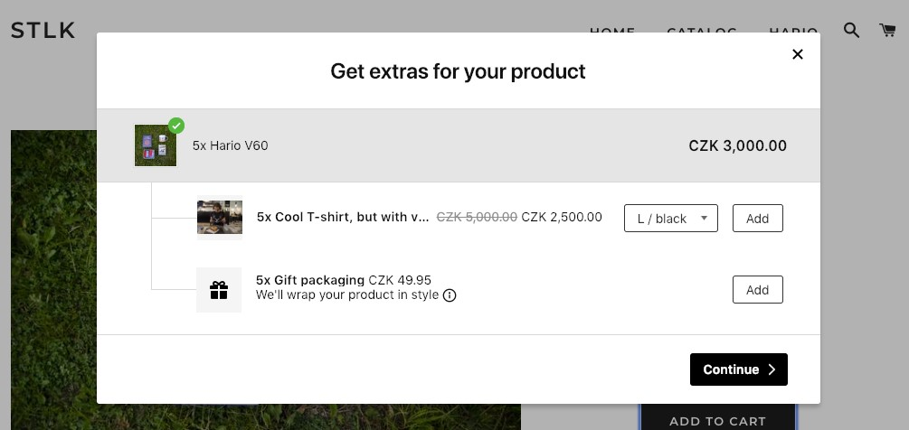 Matching parent product's quantity on the upsell pop-up