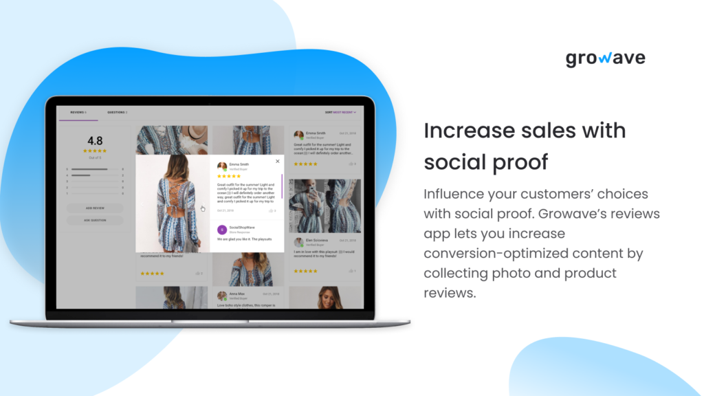 Increase your audience trust with social proof from Growave App