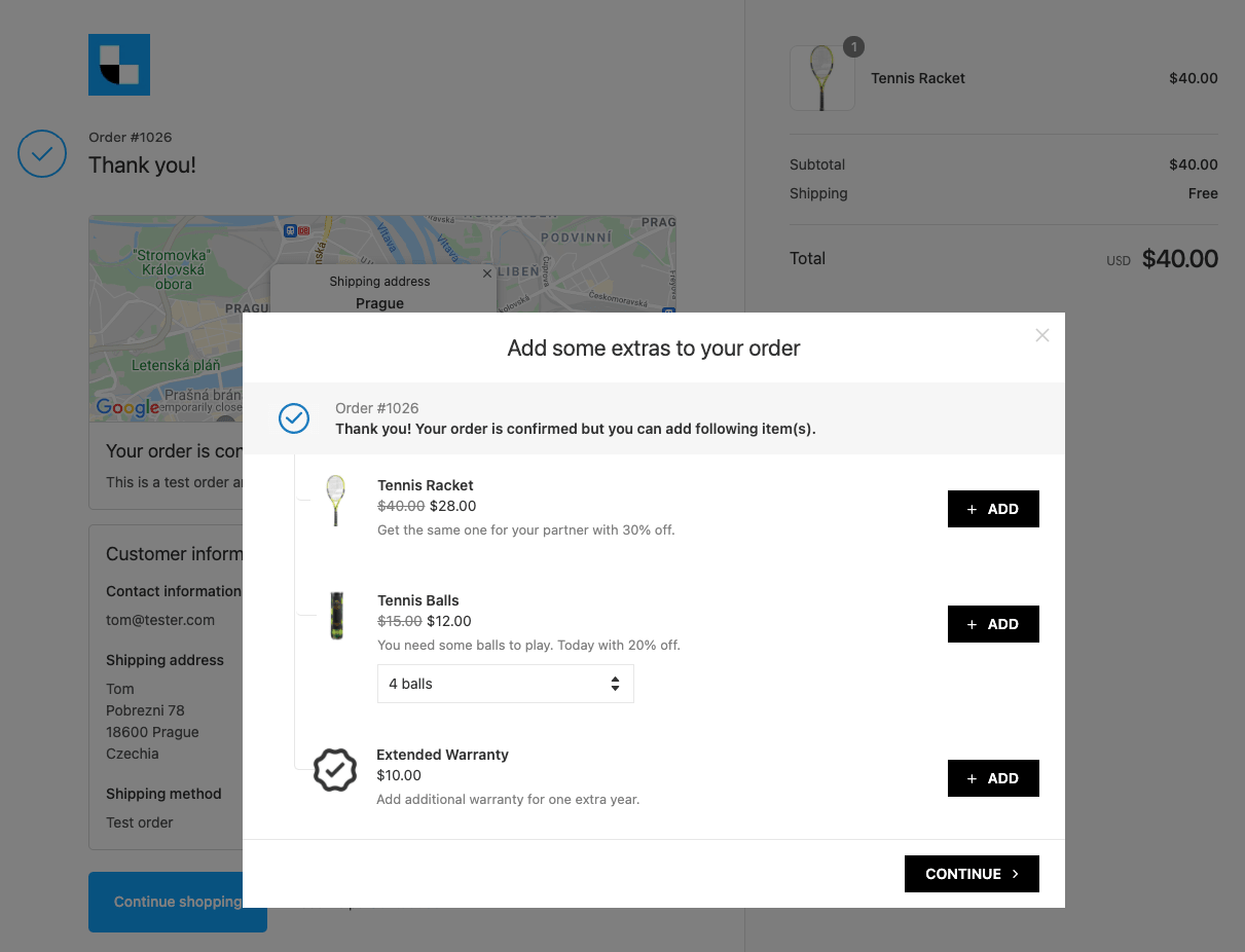 Same product upsell offered via Last Upsell post-purchase app