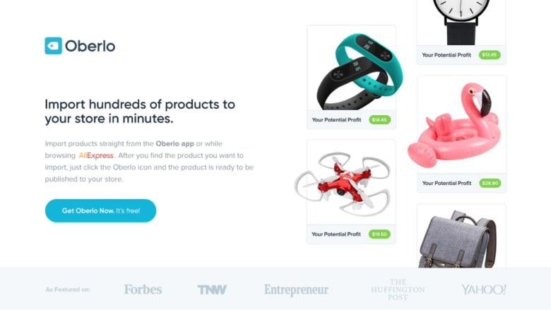 Oberlo Shopify app allows merchants to sell products from AliExpress