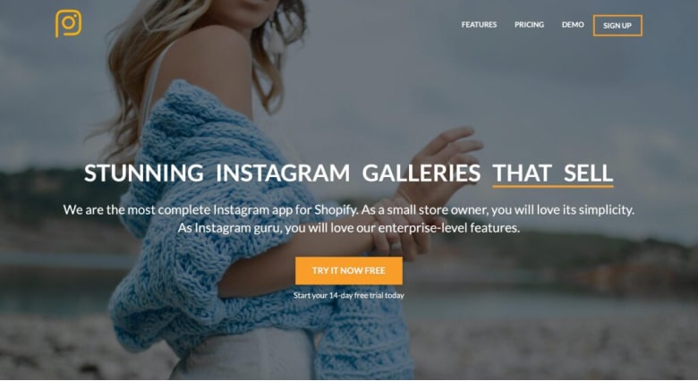 Shop Instagram Feed & UGC to showcase Instagram photos on your online store