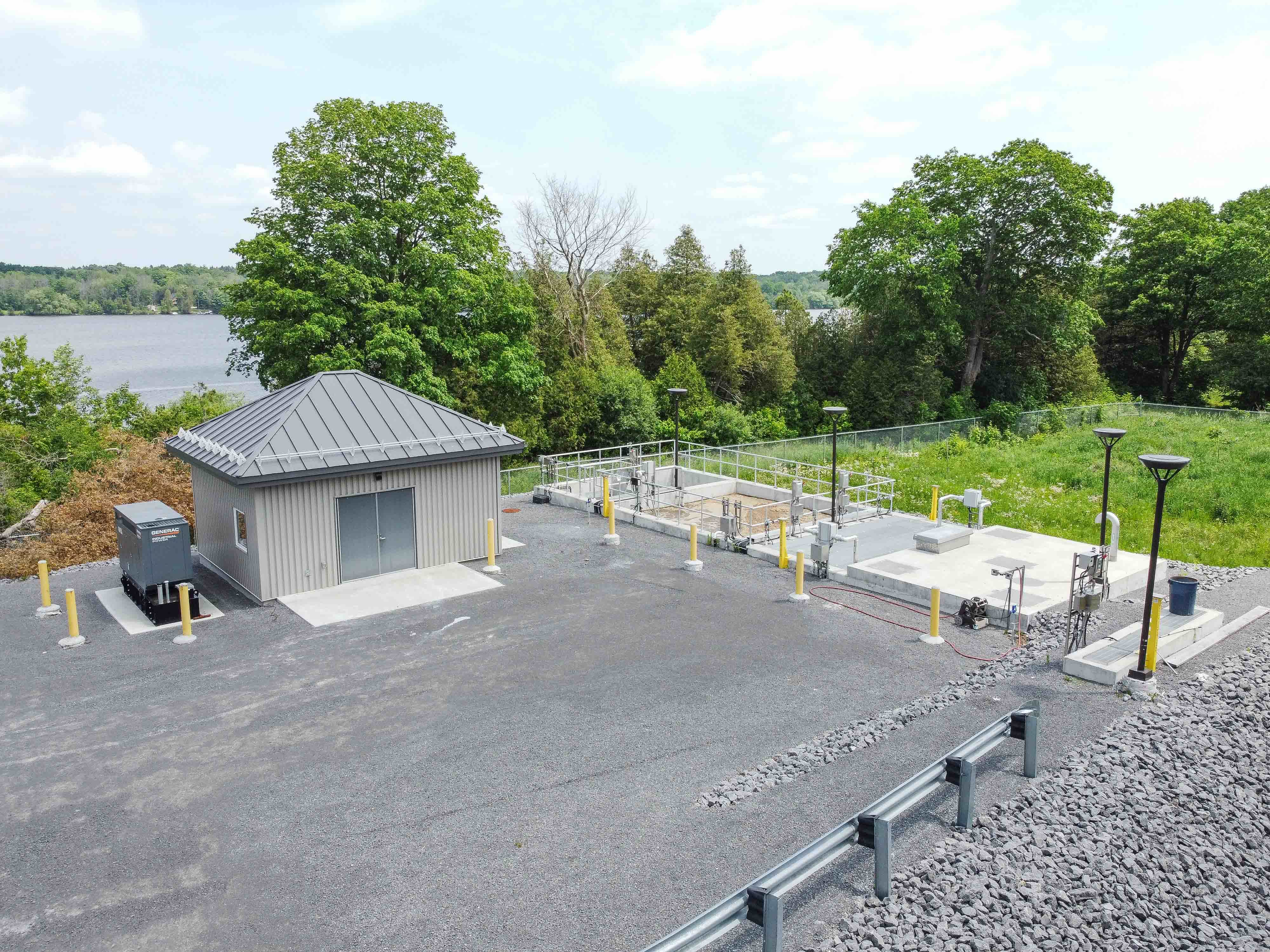 Chute-a-Blondeau Wastewater Treatment Plant exterior