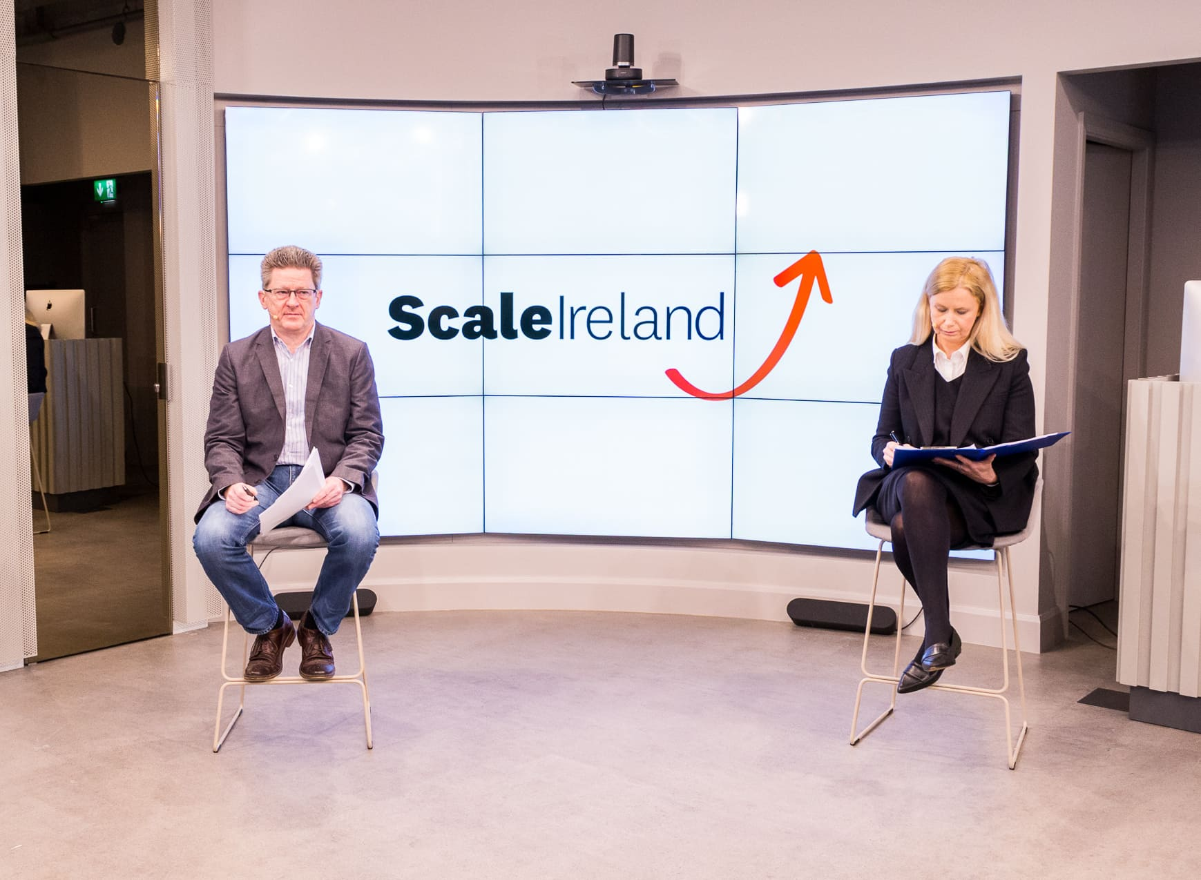 Brian Caulfield (left) and Martina Fitzgerald (right) at the Scale Ireland webinar.
