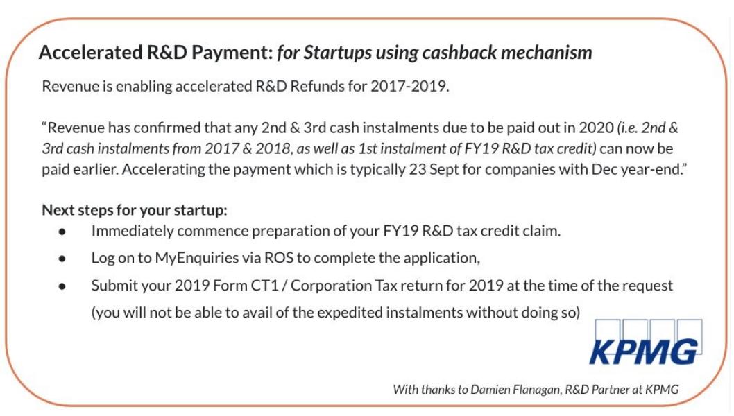 Sharing R&D Tax Credit repayment updates, April 9th