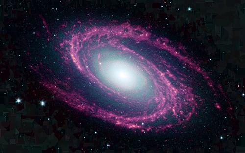 galaxy spinning