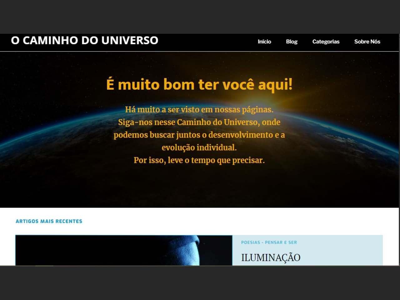 Site O Caminho do Universo