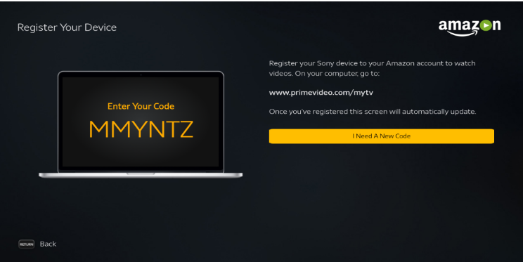 mytv prime activation code