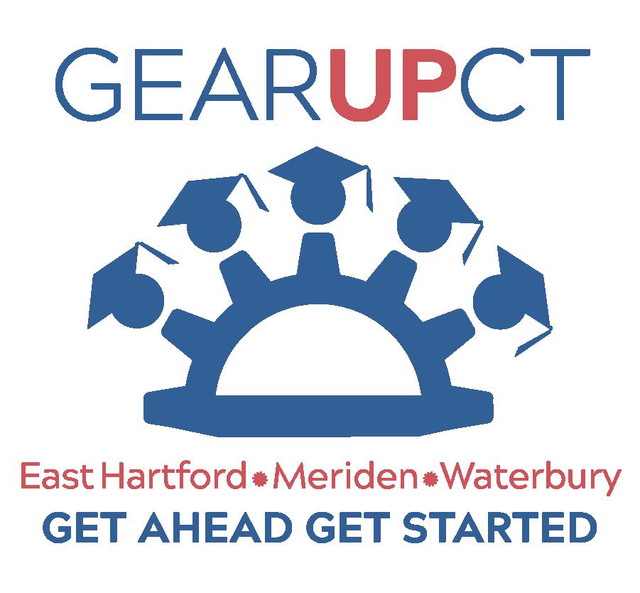 Gear UP CT three towns logo.