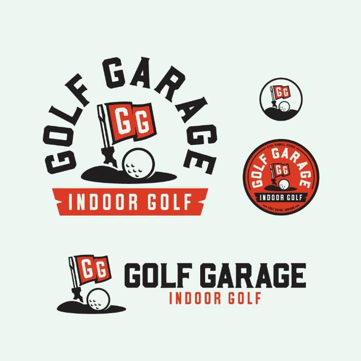 A golfing inspired logo set