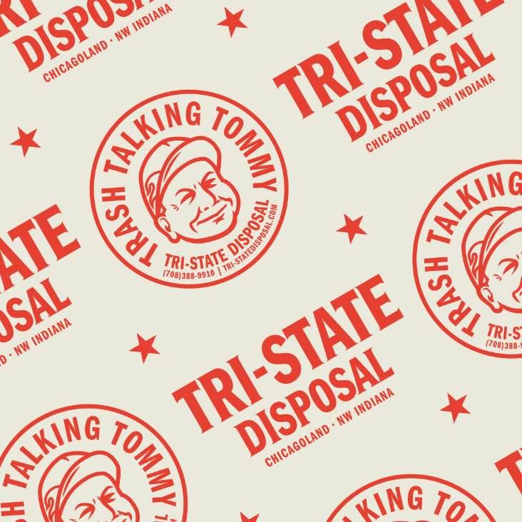 tri state disposal logo pattern
