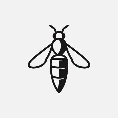 A friendly honey bee icon