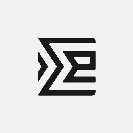 A modern semi abstract logo making an E shape
