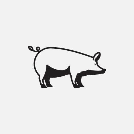 A cute pig icon