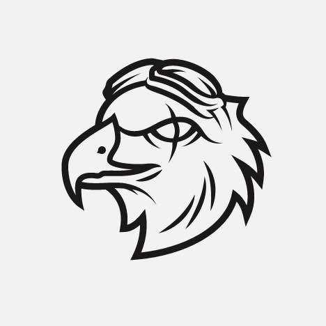 An aggressive hawk icon