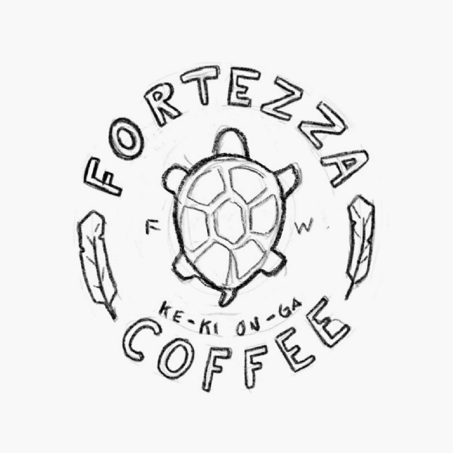 sketch of the fortezza logo