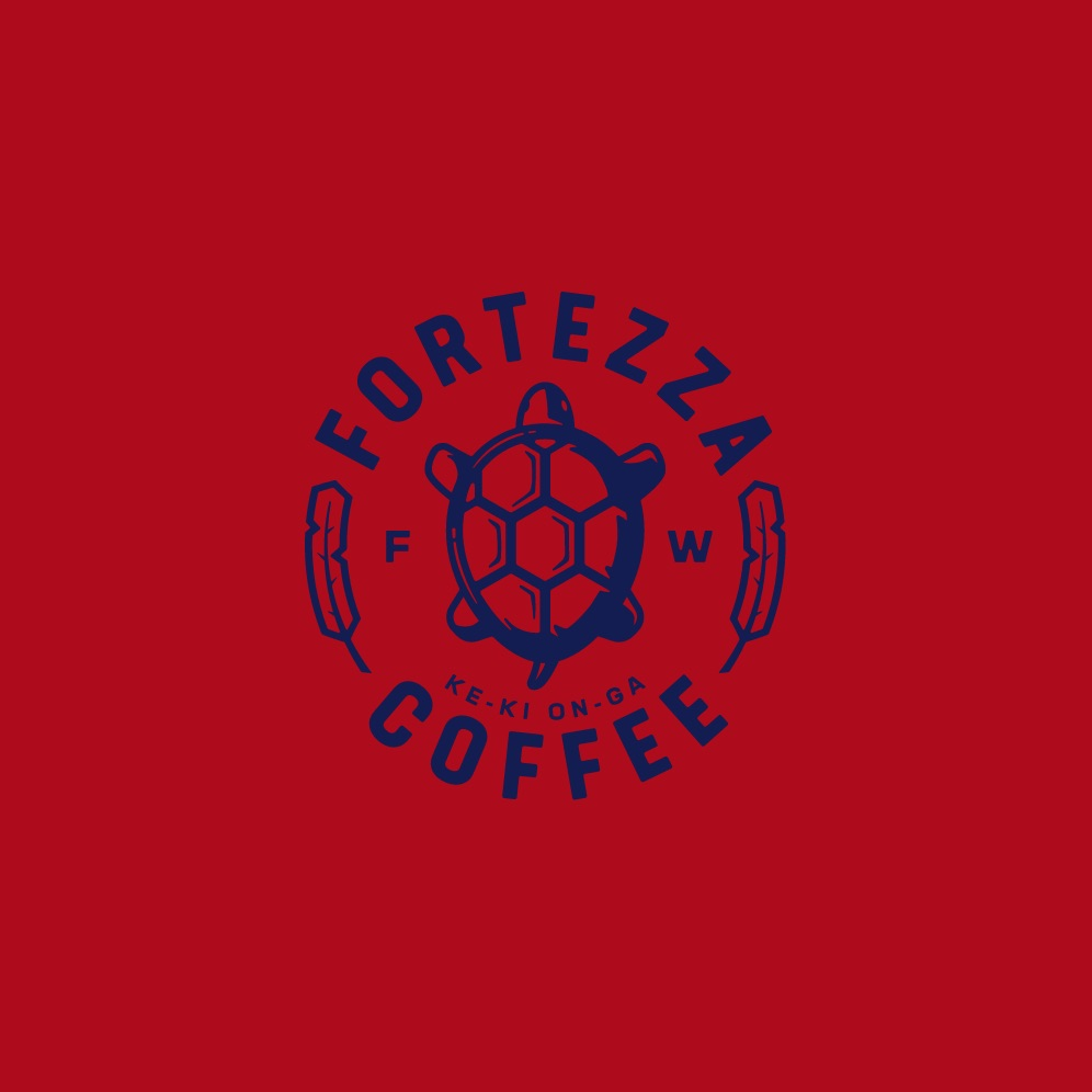 fortezza logo on red background