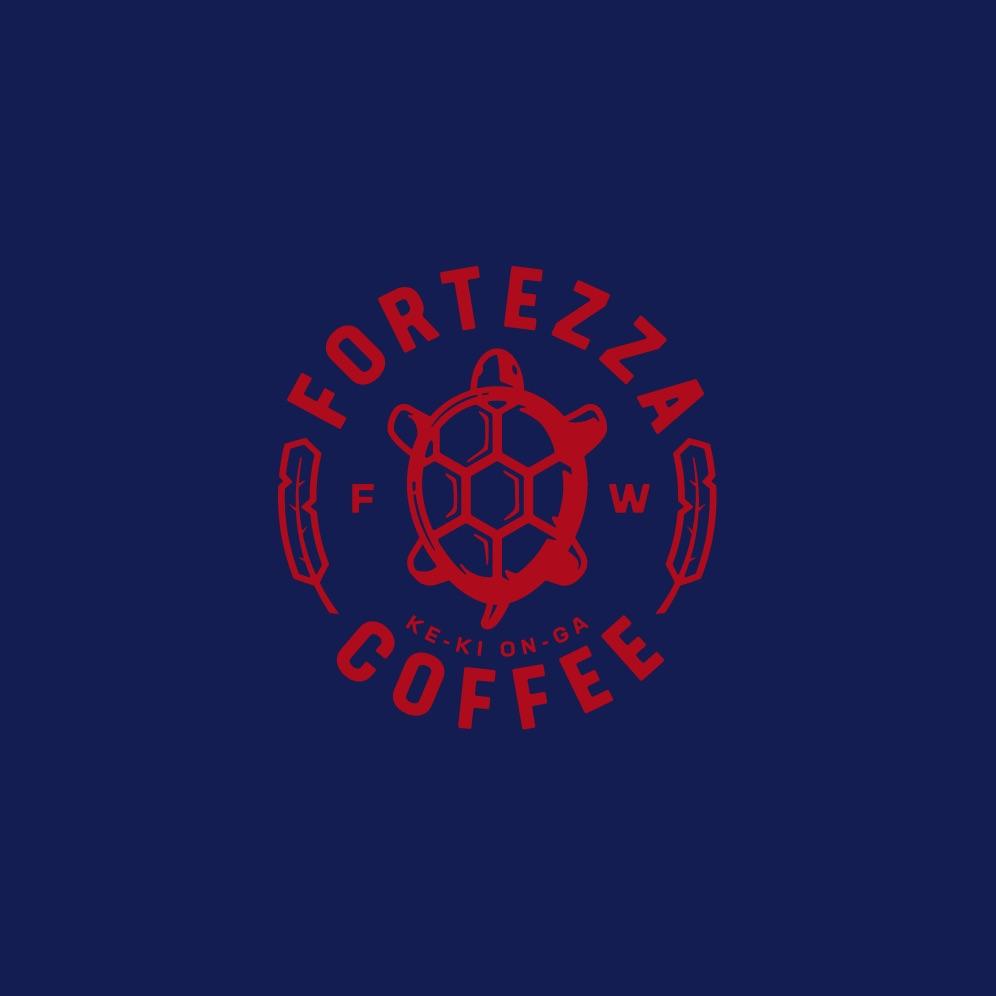 fortezza logo on blue background