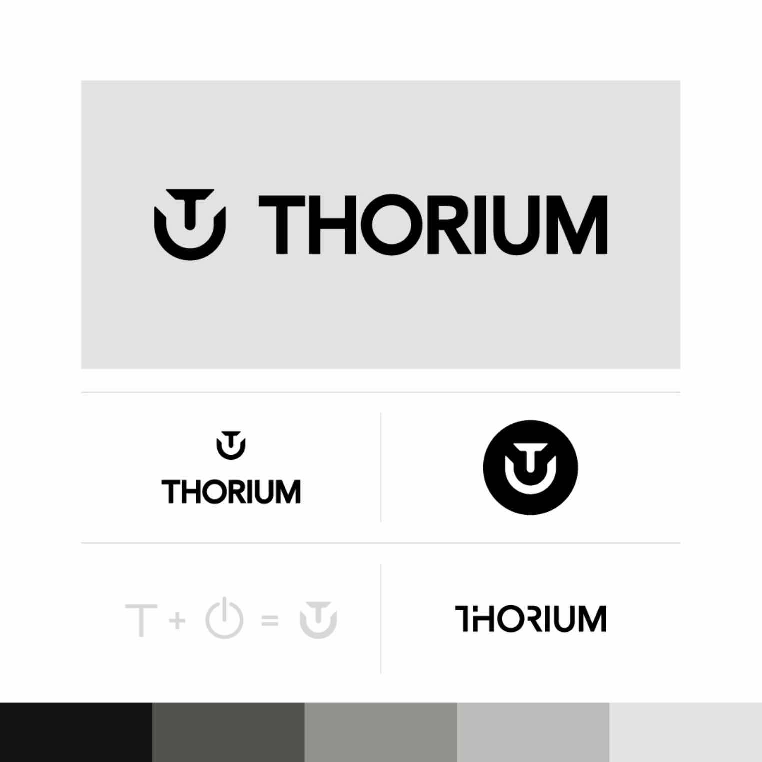 Thorium logo specimen sheet