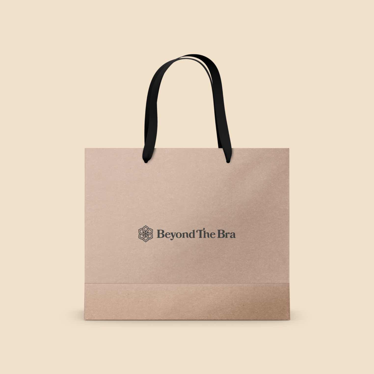 Beyond The Bra bag mockup