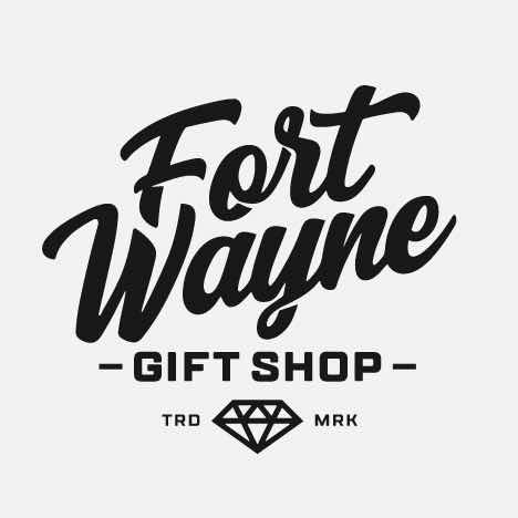 Fort Wayne in script with a diamond