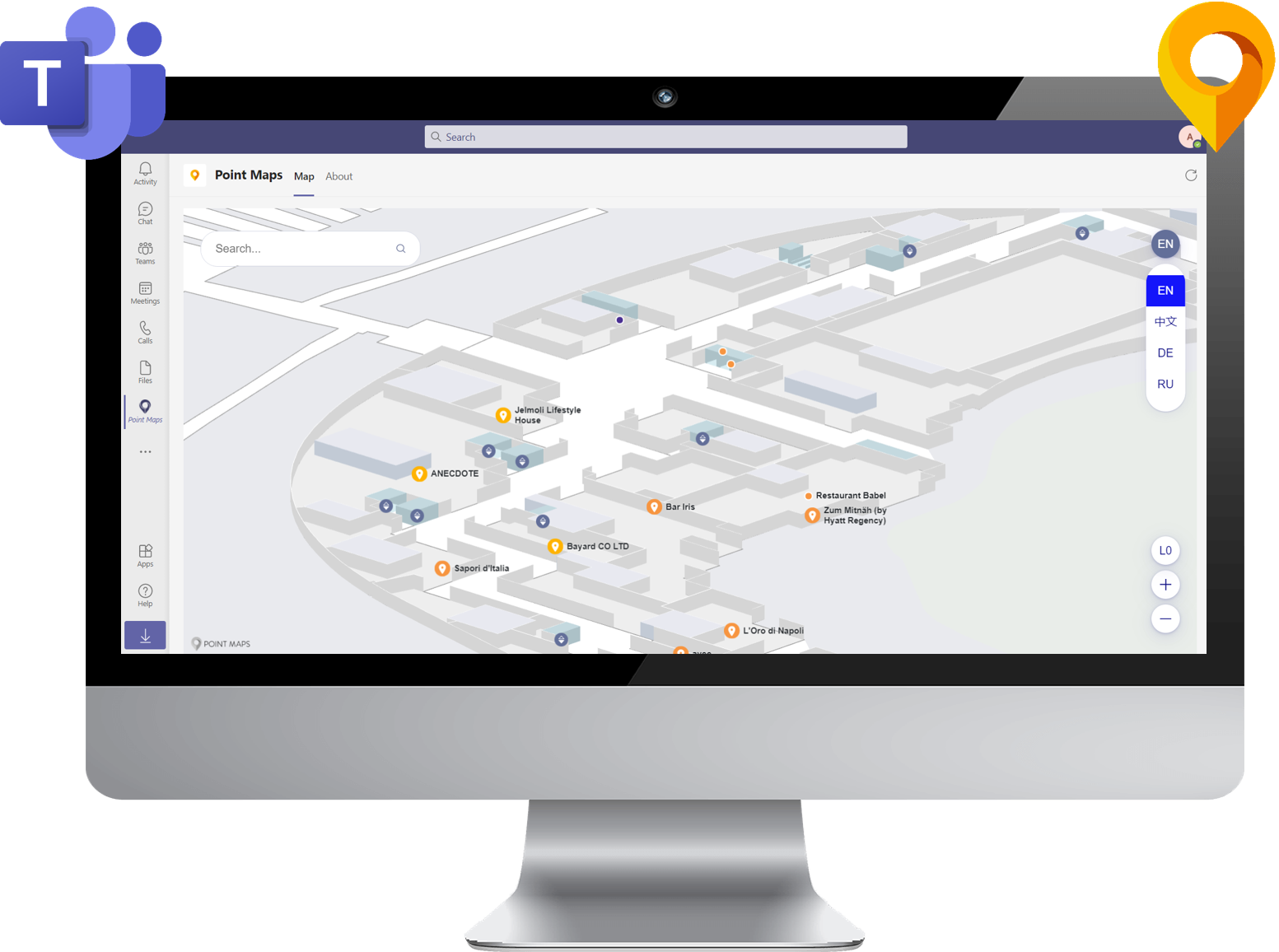 Using Point Maps with Microsoft Teams
