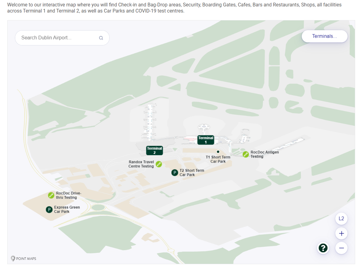 Interactive Airport Maps with Dublin Airport