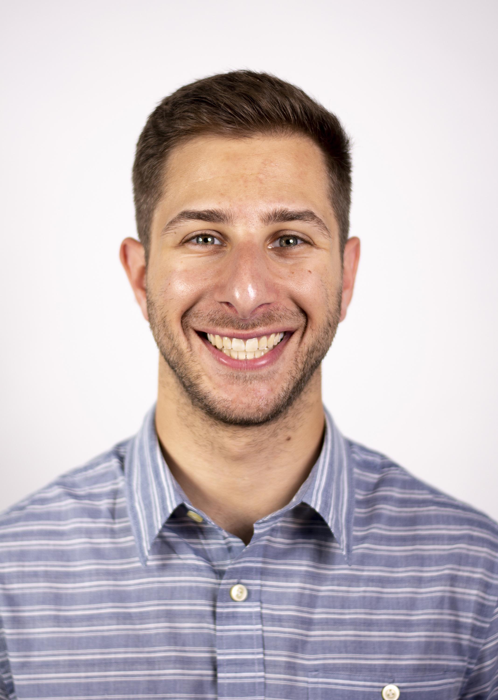 Portrait headshot of Zachary Porter on a white background