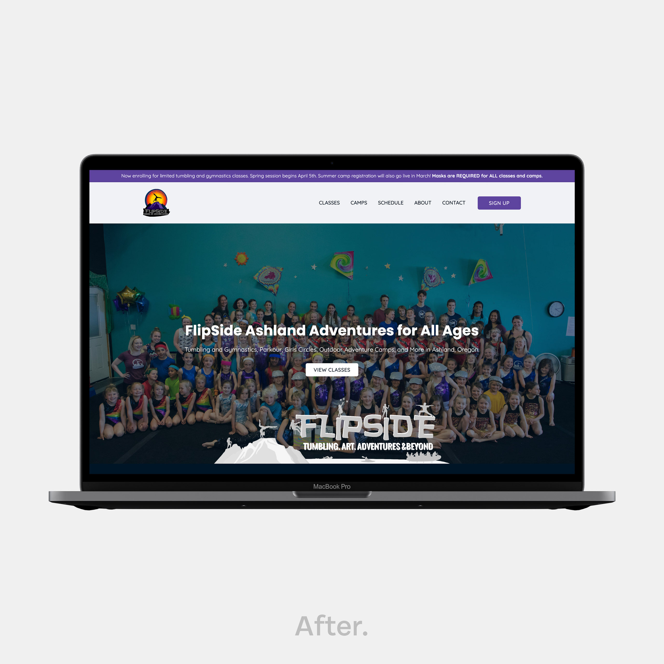 Clean website design Ashland OR