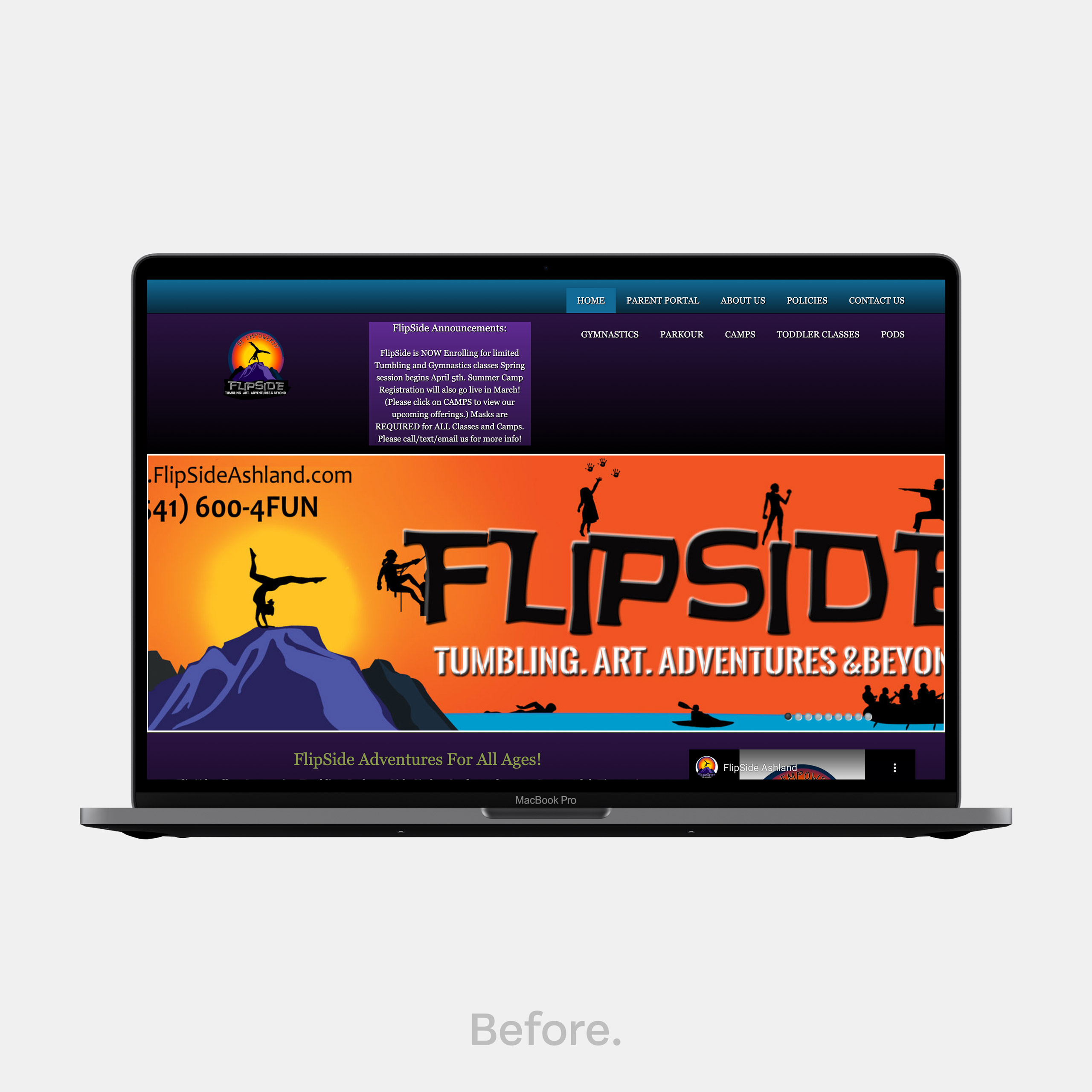 Website design makeover