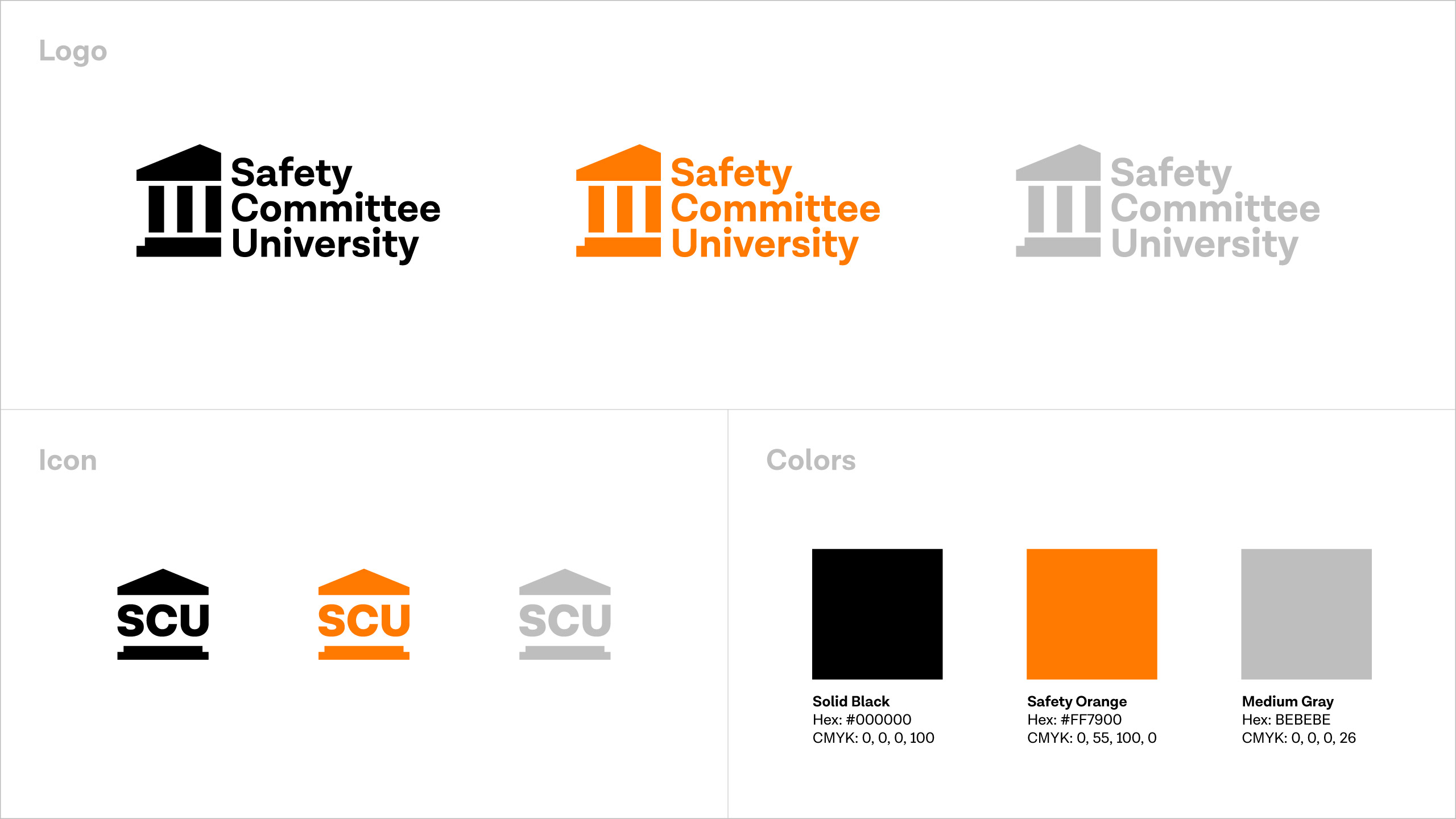 Safety Committee University brand guide