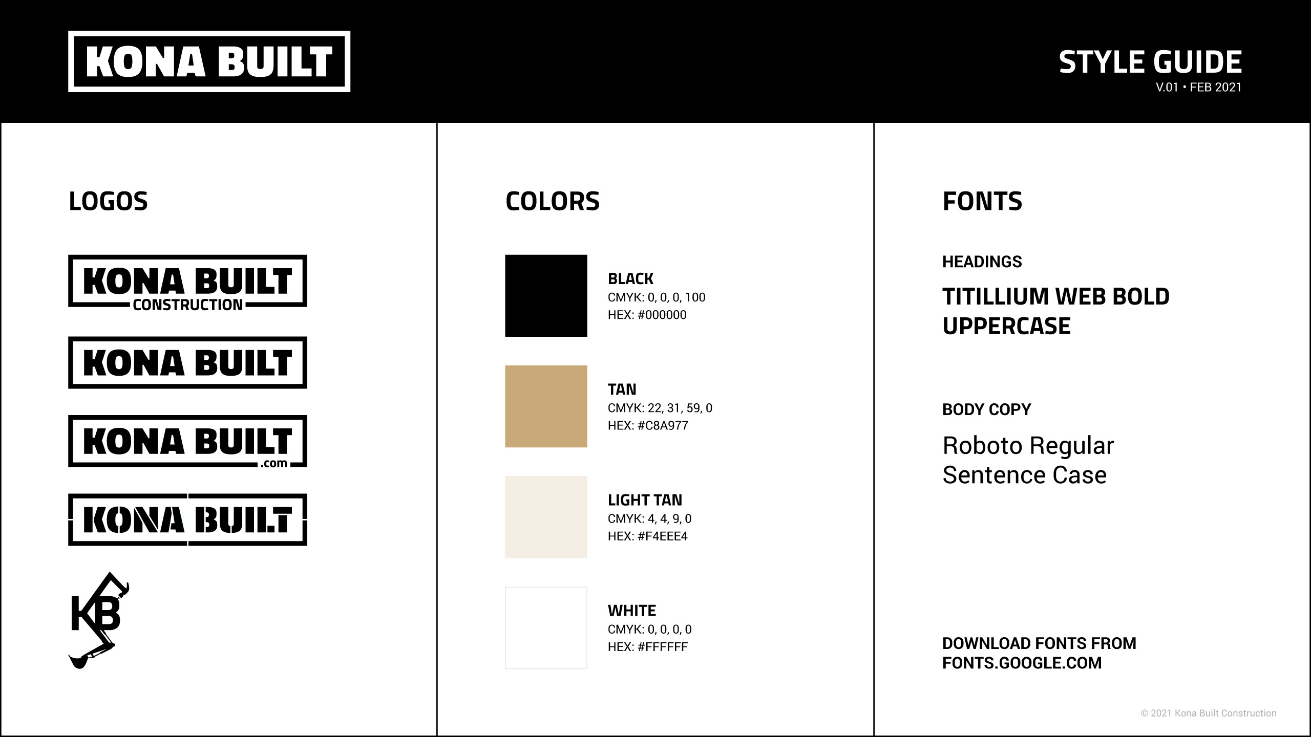 Style guide design Rogue Valley
